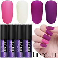 4Bottles 7ml Matte UV Gel Nail Polish Soak Off Nail UV Gel Varnish DIY LILYCUTE