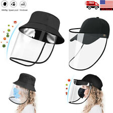 Anti-Saliva Splash Dust Proof Cap Full Face Shield Safety Protection Clear Hat