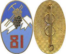 81° Régiment d'Infanterie Alpine, émail, ovale ALGERIE, Drago Paris, ( réf 5151)