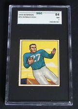 1950 Bowman #73 Donald Doll Detroit Lions USC SGC 84 NM 7
