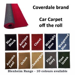 Car Carpet - automotive carpet 1.5m wide (5ft) sold per running metre 10 colours
