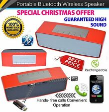 Red Christmas Gift High Sound Bluetooth Wireless Speaker Royal Mail 1st Class
