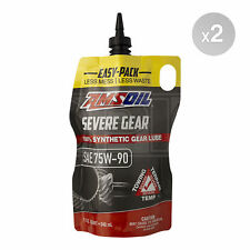 Amsoil Synthetic SEVERE Gear Oil 75w-90 Easy-Pack - 2 x 1 Quarts (1.89L)