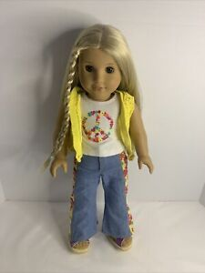 """American Girl Historical 1974 Julie Albright 18"""" Doll w/ Outfit"""