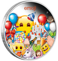 2020 emoji™ Celebration 1oz $1 Silver 99.99% Dollar Proof Colored Coin
