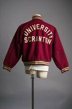 Vtg 50'S University Scranton Letterman Jacket Reversible Size Medium