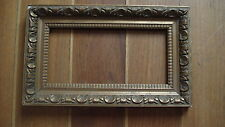 Cadre ancien bois stuqué doré palmettes Napoléon III antique frame XIXe.