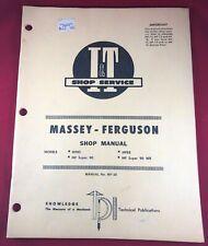 I&T Shop Service Manual Mf-20 Mf20 for Massey Ferguson models Mf85 Mf88