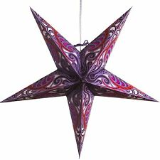 Lavender Obsession Paper Star Light Lamp Lantern with 12 Foot Cord Included