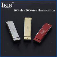 Blues Deluxe 10 Trous Harmonica Diatonique Avec étui, Clé De G