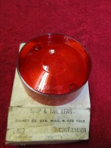1962 Mercury Comet Tail Light Lens NORS