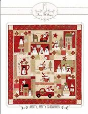 MERRY, MERRY SNOWMEN BLOCK OF THE MONTH QUILT PATTERN, From Bunny Hill Designs