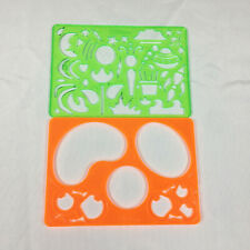Spirograph Replacement Lot of 2 Stencils Drawing Art