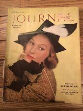1937 Ladies Home Journal October - Zorina; Cream Top Bottle; Roosevelt; fire