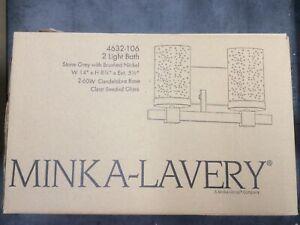 Minka Lavery 4632-106 Bridlewood 2 Light Bath Vanity Stone Grey W/Brushed Nickel