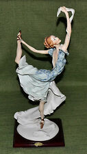 "1988 Giuseppe Armani Florence Ballerina with Scarf 20"" Figurine 0504P in Box"