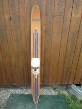 """VINTAGE Wooden Single Water Ski Waterski 66"""" Long Signed MERMAID CRUISER"""