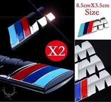 2x BMW M Sport Power Metal Badge Emblem Sticker Side & Rear Boot Trunk 1 2 3 5 7
