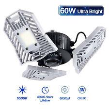 US E27 LED Garage Light Bulb Deformable Ceiling Fixture Light Shop Workshop Lamp