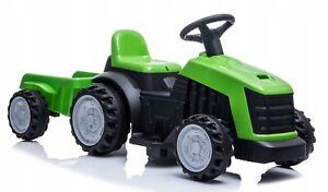 Traktor mit Anhänger Akku grün gelb COIL