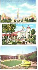 CA - SAN FRANCISCO Golden Gate International Expo - 3 Vintage Views