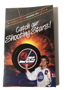 1985-86 Winnipeg Jets NHL Hockey Yearbook Guide Catch Our Shooting Stars