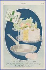 Vintage 1920 WESSON Oil Frying Eggs Cake Dessert Kitchen Ephemera 20s Print Ad