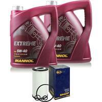 Ölwechsel Set 10L MANNOL Extreme 5W-40 Motoröl + SCT Filter KIT 10203638