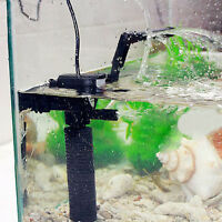 3-in-1 Aquarium Internal Filter Fish Tank Water Submersible Pump Spray Bar #US
