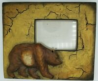 """Photo Picture Frame Bear Big Sky Carvers Brown Bear Distressed 4"""" x 6"""" Photo"""