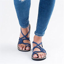 Bohemian Flat Flip Flops Sandals Summer Womens Bandages Casual Beach Shoes Size