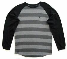 LRG Boys XL Long Sleeve Dark Heather Grey Striped Warm Pull-Over Top