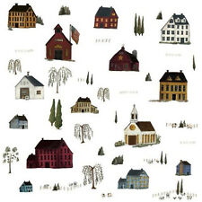 PRIMITIVE SCENERY country wall stickers 40 decals farm house town kitchen decor