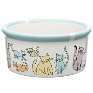 Signature Housewares, Water or Feeding Bowl, Cat, Cat Town, Brand New, Size S
