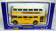 TOMICA 1/86 - L8 LONDON BUS RM NEWCASTLE AMBER ALE DIECAST MODEL BUS