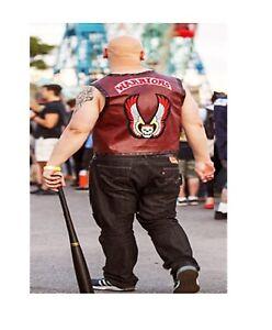 Leather N Jackets Warriors Vest High Quality Skull Leather Vest For Bikers.