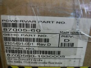 Powervar GE (87005-60) 115VAC 775VA Shuttle Universal Power Module 50/60hz *NEW*