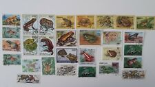 25 Different Frogs on Stamps Collection