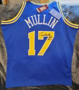 Golden State Warriors Autographed Chris Mullin M&N Jersey w/Inscription PSA
