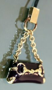 Auth GUCCI Vintage Purple Vanity Pendant Cell phone Charm Key Charm Bag Charm