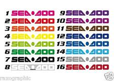 "SEADOO Graphic Kit 3x25"" TRAILER DECAL STICKER GTX GTI GSX RXP XP RTX SPARK"