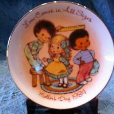 "Nos Avon 1984 Porcelain Mother'S Day Plate Collection ""Love Comes In All Sizes"""