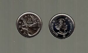 CANADA COINS, 2014 CARIBOU DESIGN QUARTER, MUST L@@K