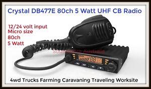 **BRAND NEW** Crystal DB477E UHF 80 Channel Radio 5 Watt 12/24V Duplex 2-Way CB