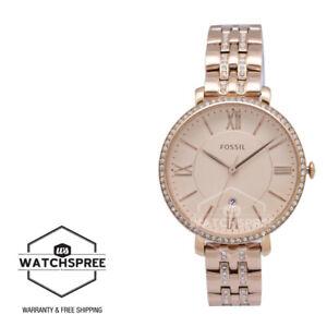 Fossil Jacqueline Rose Tone Ladies Watch ES3546