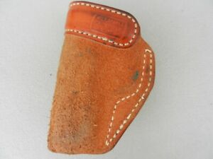 """Milt Sparks Suede Leather Right hand holster 4 3/4"""" x 31/4"""" Used  Unk. What fits"""