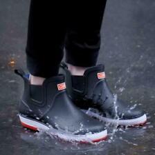 Rain Boots Mens Work Short Tube Kitchen Non-slip Fishing Waterproof Rubber Shoes