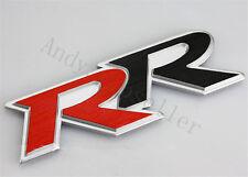 1Pcs Car Red Black RR Aluminum Auto Trunk Lid Sticker Badge Emblem Decoration