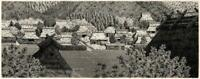RYOHEI TANAKA (b.1933) Signed Japanese Etching MOUNTAIN VILLAGE A.P. 7/15 - 1979