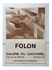 Folon Vintage poster SIGNED